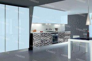 Стильная лаковая кухня - Мебельная фабрика «Самеко»