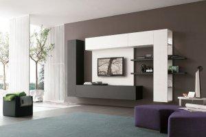 Стильная навесная гостиная - Мебельная фабрика «Мебель Мастер»