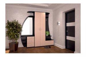 Стильная прихожая с большим зеркалом Бертик - Мебельная фабрика «Плазо плюс»