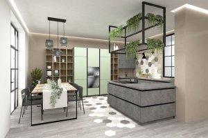 Стильная современная кухня Симпл - Мебельная фабрика «Трио»