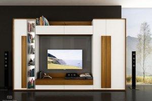 Стильная стенка в гостиную арт.3433 - Мебельная фабрика «Роникон»