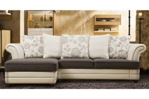 Стильный диван с оттоманкой Пенелопа - Мебельная фабрика «SID Диваны»