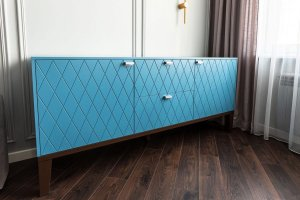 Стильный голубой комод - Мебельная фабрика «Алгаир»