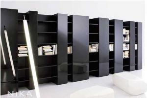 Стильный книжный стеллаж Брайтон STL17 - Мебельная фабрика «NIKA premium»