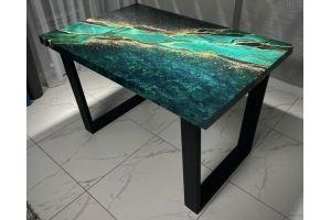 Стол 3D Малахит опора П-образная - Мебельная фабрика «Akrolux»