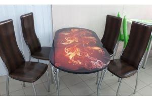 Обеденная группа Стол-7 и 4 стула Лорд - Мебельная фабрика «ИЛ МЕБЕЛЬ»