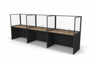 Стол Бенч-система прозрачная Юнит - Мебельная фабрика «ДЭФО»