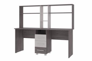 Стол двухместный с надстроем Орион - Мебельная фабрика «КБ-Мебель»