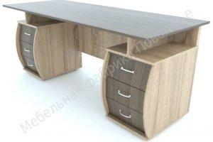 Стол Эрго письменный двухтумбовый - Мебельная фабрика «Поволжье»