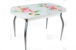Стол GOLD с фотопечатью Акварельные цветы - Мебельная фабрика «Линия мебели»