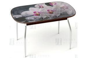 Стол GOLD с фотопечатью Орхидея - Мебельная фабрика «Линия мебели»