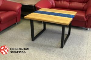 Стол из эпоксидной смолы Blue Line - Мебельная фабрика «3+2»