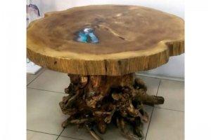 Стол из поперечного спила тополя - Мебельная фабрика «Массив»