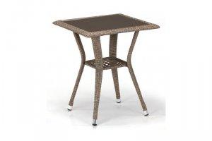Стол из ротанга T25-W56-50x50 Light brown - Мебельная фабрика «Афина-Мебель»