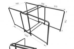 Механизм трансформации Стол-книжка - Оптовый поставщик комплектующих «Кузнецкий завод мебельной фурнитуры»