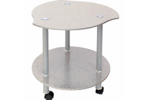 Стол Кофейный белый камень - Мебельная фабрика «Мебель из стекла»