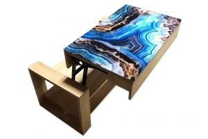 Стол кофейный со стеклом - Мебельная фабрика «Астера»