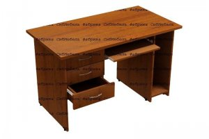 Стол компьютерный  c 3 ящиками - Мебельная фабрика «СибМебель»