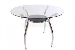 Стол круглый Fredy из закаленного стекла - Мебельная фабрика «Мебель-Покупай»