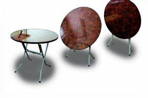 Стол круглый, складной 8-75, ривьера - Мебельная фабрика «Мебель ОПТ 98»