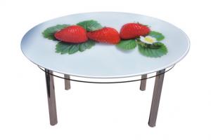 Стол круглый стекло - Мебельная фабрика «Евроскол»