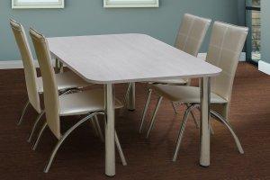 Стол Кухонный на хром ногах - Мебельная фабрика «Астмебель»