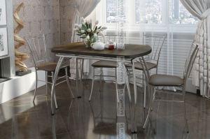 Стол МДФ раздвижной (тиковое дерево) - Мебельная фабрика «Вавилон58»