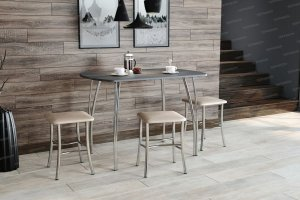 Стол обеденный №3 с табуретами из экокожи - Мебельная фабрика «Террикон»