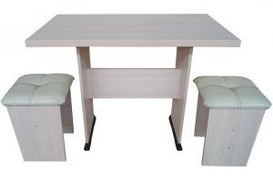 Стол обеденный Горизонт с табуретами Марс - Мебельная фабрика «ГК Континент мебели»