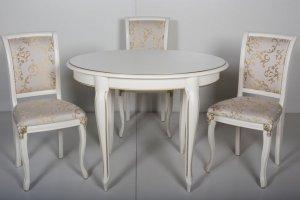 Обеденная группа Стол обеденный Катарина со стульями Кабриоль - Мебельная фабрика «Мебель-альянс»