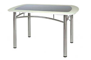Стол обеденный кожзам и цветное стекло - Мебельная фабрика «Tandem»