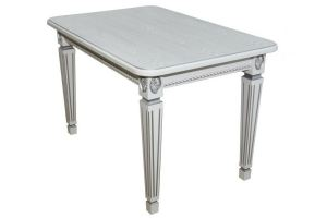 Стол обеденный Меран белый/патина 120*80 - Мебельная фабрика «Мебелик»