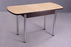 Стол обеденный на хромированных ножках, раздвижной - Мебельная фабрика «Сафина»