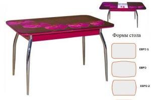Стол обеденный раскладной фотопечать 6 - Мебельная фабрика «Корфил»