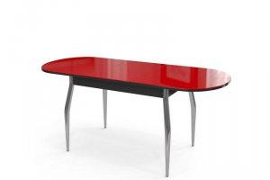 Стол обеденный раскладной Сиена со стеклом - Мебельная фабрика «Бум-Мебель»