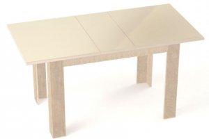 Стол обеденный раздвижной Бостон бежевый - Мебельная фабрика «Линия мебели»