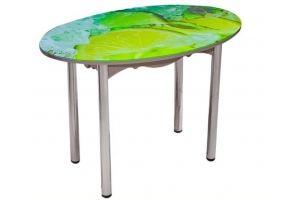 Стол обеденный с фотопечатью овальный - Мебельная фабрика «Евростиль»