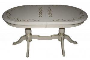 Стол обеденный с гравировкой и патиной - Мебельная фабрика «Прима-мебель»