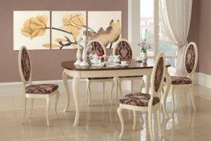 Стол обеденный с классическими стульями - Мебельная фабрика «Агата»