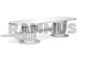 Стол обеденный Санторини Овальный - Мебельная фабрика «RAMMUS»