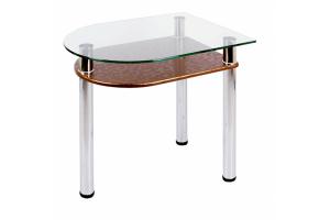 Стол обеденный стеклянный с полкой 4.4 - Мебельная фабрика «Мебель из стекла»