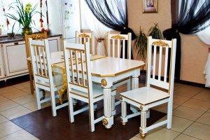 Стол обеденный в классическом стиле с декорами - Мебельная фабрика «Эксклюзив-Пинск»