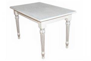 Стол обеденный Жерар 03 раздвижной белый/патина 160/200*90 - Мебельная фабрика «Мебелик»