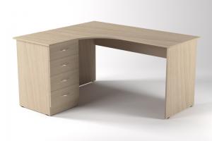 Стол офисный с тумбой Лев - Мебельная фабрика «ЭККЕ»