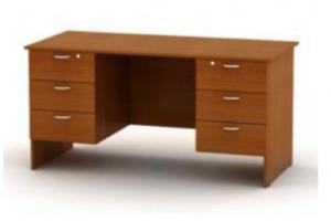 Стол письменный двухтумбовый - Мебельная фабрика «Амира»