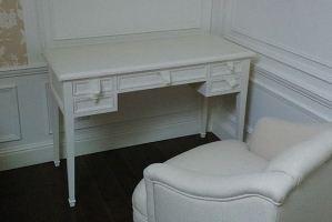 Стол письменный из массива белый - Мебельная фабрика «Винтаж»