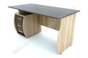 Стол Эрго письменный однотумбовый - Мебельная фабрика «Поволжье»