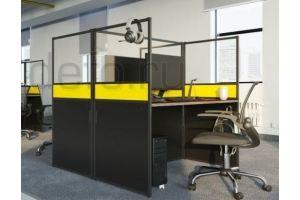 Стол письменный прозрачный Юнит - Мебельная фабрика «ДЭФО»