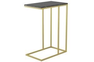 Стол придиванный Агами Голд черный мрамор/золото - Мебельная фабрика «Мебелик»