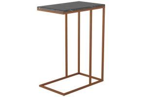 Стол придиванный Агами Купер черный мрамор/медь - Мебельная фабрика «Мебелик»